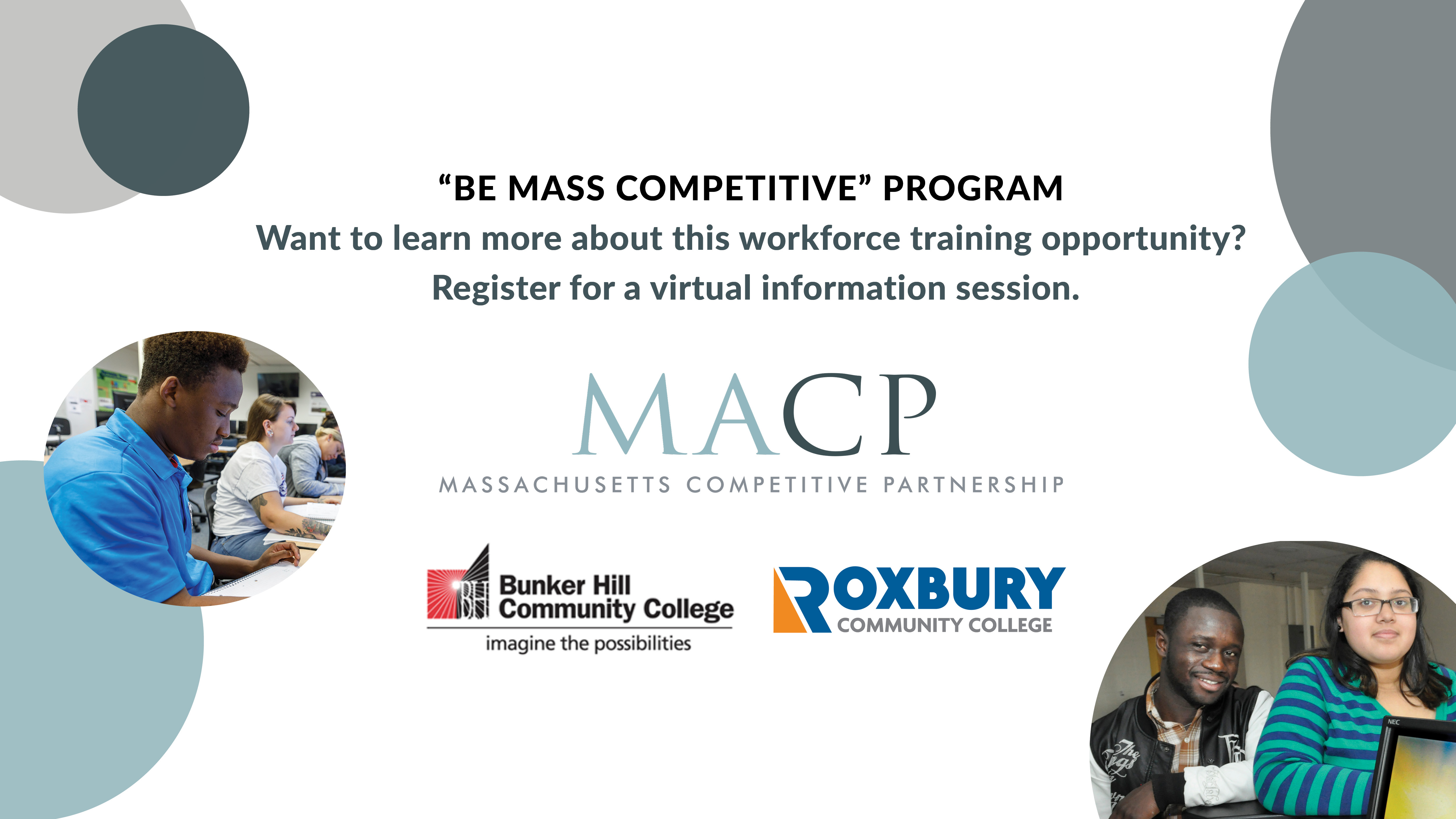 Be Mass Competitive virtual information session